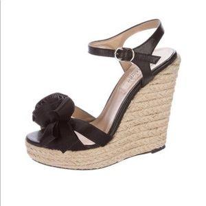 b0fb69f653c Valentino Shoes - Valentino Rosette-accented espadrille wedges